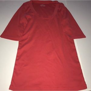 J. Crew perfect fit T-shirt coral a medium
